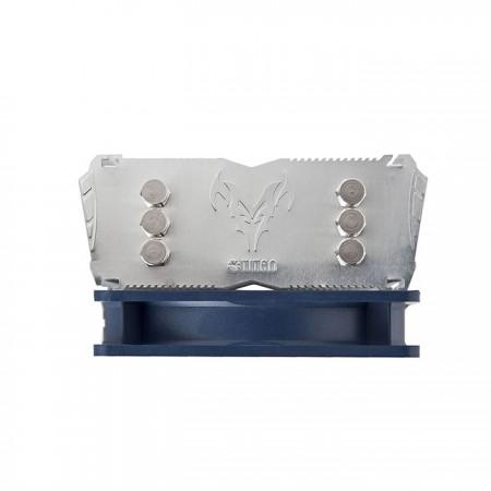 パーソナルファッションのブルーとシルバーのカラーデザインで、高い冷却性能とスタイリッシュでユニークな両方を実現します。