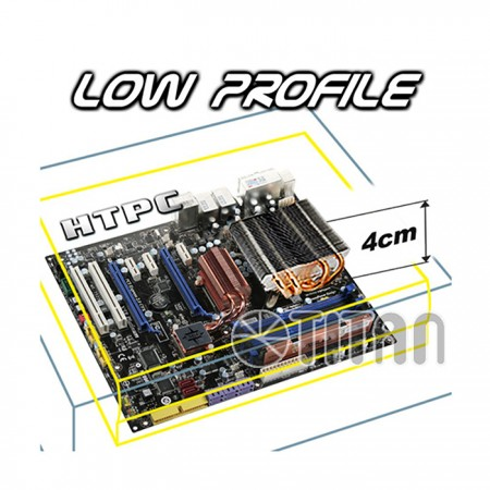 TTC-NC25/HS: 1.5U low height design CPU cooler for slim type HTPC cases.