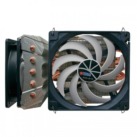 Wildly Cooling CPU and its surrounding with both sideways and downward airflow cooling.