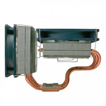 Combined sideways and downward fins, this CPU cooler provides the best airflow circulation. Greatly increasing heat circulation conductivity and cooling performance.