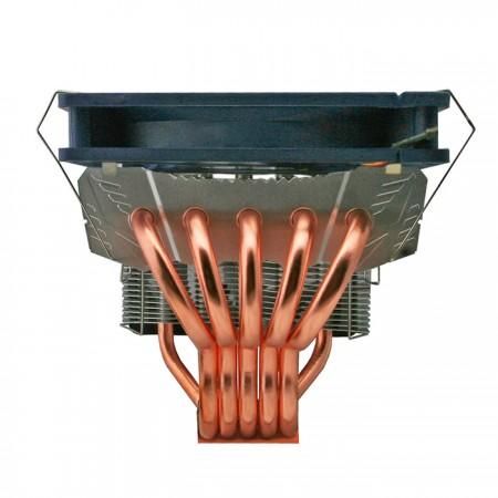 擁有5根8mm雙U型高品質直觸式熱導管,搭配TITAN設計的特殊摺曲直觸角度,熱傳導效能達原先的2倍,1根能抵2根使用,TDP值更達220W,熱傳導能力驚人。