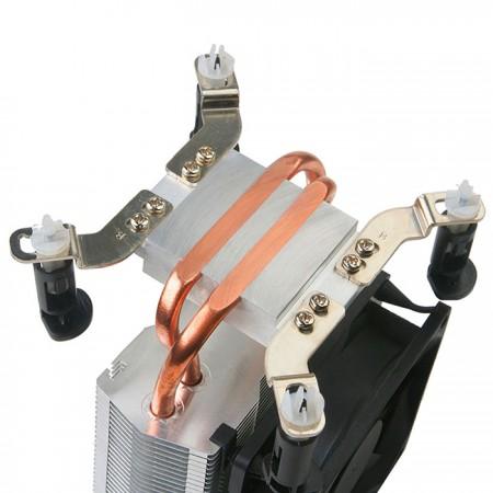 Mit 2 optimierten U-förmigen Direktkontakt-Heatpipes, erhöhen Sie den Luftstrom und die Wärmeübertragung erheblich.