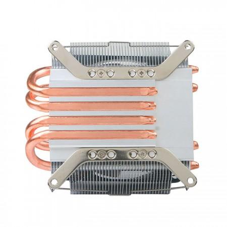 以直接接觸熱源導熱的核心技術,搭配4根6mm 的U型熱導管,快速的將CPU運作時產生的熱量帶走,TDP值可達130W,大幅增加CPU散熱效率。
