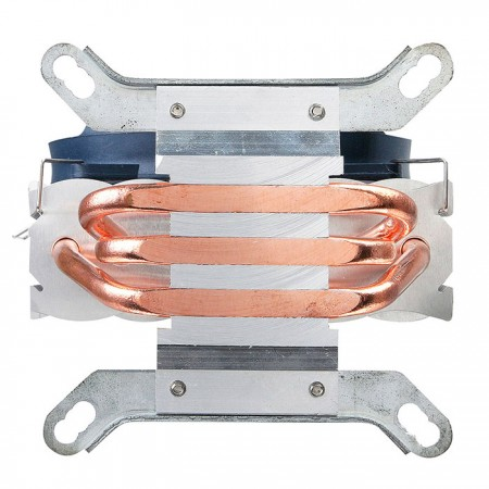 The U shaped  highly efficient heat pipe directly attach to the heat source technology enhances heat conductivity.