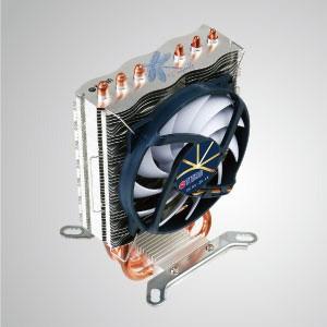 Enfriador de enfriamiento de aire de CPU universal con 3 tubos de calor de CC y ventilador de 95 mm / Dragonfly 3 / TDP 130W - El enfriador de CPU universal presenta 3 ventajas: extremadamente silencioso, extremadamente delgado y extremadamente bajo consumo de energía.