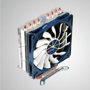 Enfriador de enfriamiento de aire de CPU universal con 4 tubos de calor de CC y ventilador de 120 mm / Dragonfly 4 / TDP 160W - Presentado con 4 tubos de calor de contacto directo optimizados en forma de U y un ventilador de enfriamiento de bajo ruido de 120 mm. Es capaz de acelerar el disipador de calor mediante la circulación del flujo de aire.