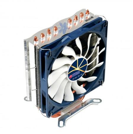 Con 4 tubos de calor de contacto directo de cobre optimizados en forma de U para aumentar el flujo de aire y el disipador de calor.