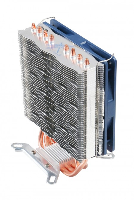 Extreme Slim CPU cooler like dragonfly wings, it is equipped with wave aluminum fins and 4 direct contact u-shaped heat pipes not only has great heat dissipation but also fits mostly motherboards.