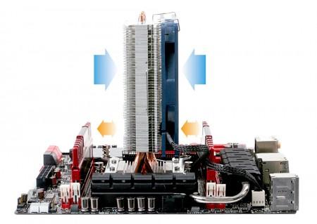 TITAN極輕薄CPU散熱器,輕鬆穿梭各大主機板。