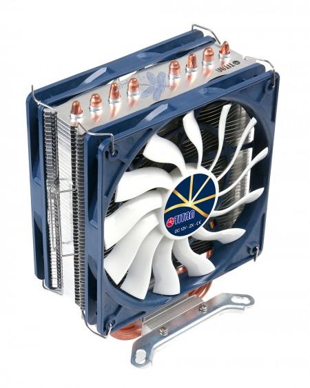 Sistema de montaje opcional para uno o dos ventiladores de enfriamiento.