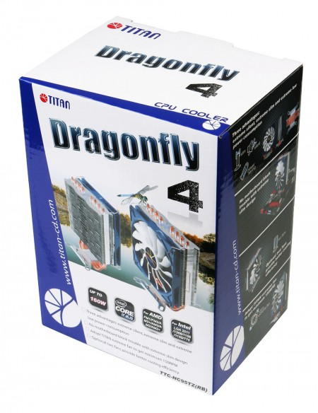 Dragonfly 4 散熱器外盒包裝。