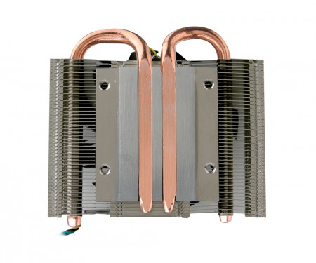 With 2 copper direct contact heat pipes to boost airflow and heat sink.