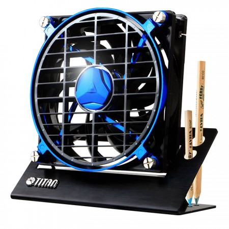 Take the noble and elegant style, matching 4 different charming color and metal-textured base to create an outstanding, exquisite, and unique fan. Let you have a striking but low profile lifestyle.