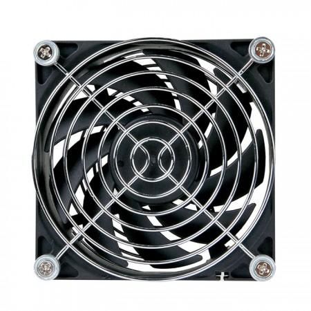 温度を下げるための90mmの静かなファン。