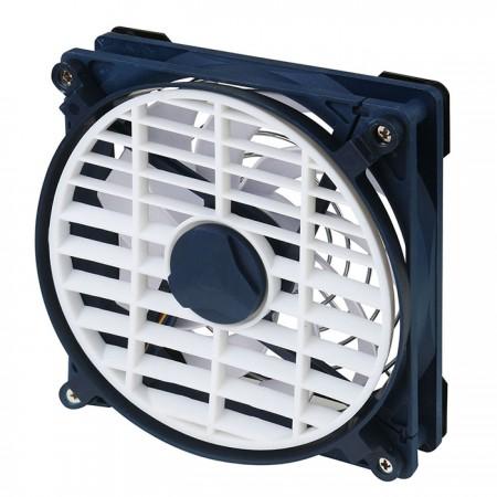 Dieser mobile Kühlventilator kann ohne Platzbeschränkung an jedem Netzmaterial befestigt werden, wie z. B. Insektenschutz, Bildschirmraum, Fenstergitter, Zelt oder Moskitonetz.