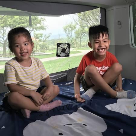 Kinder ventialtion im Van / RV im Inneren