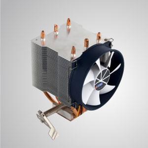Enfriador de aire de CPU AMD con ventilador de refrigeración de 95 mm, aletas de refrigeración y base de cobre / TDP 140 W - Equipado con un ventilador de enfriamiento silencioso de 95 mm, aletas de soldadura y base de cobre, este enfriador de enfriamiento de CPU es capaz de acelerar la transferencia de calor en gran medida.