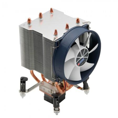 Mit drei 6-mm-Direktkontakt-Heatpipes und hochwertigen Aluminiumlamellen kann dieser Kühler Kühlkörper erheblich übertragen.
