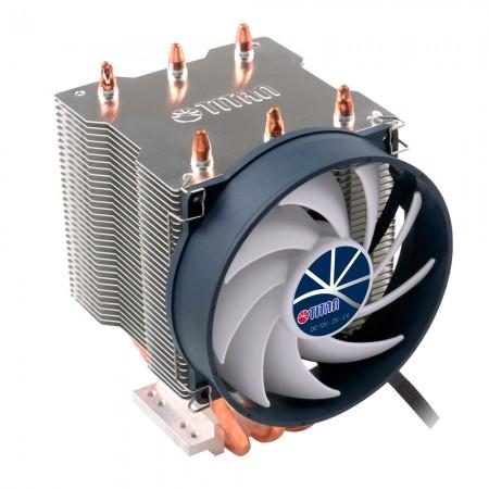 Avec 3 caloducs à contact direct et un ventilateur de refroidissement silencieux, ce refroidisseur peut transférer le dissipateur thermique du fonctionnement du processeur et augmenter considérablement le flux d'air