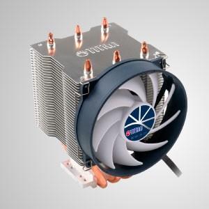 [共用型] 空冷CPU散熱器/ 直觸式三熱管/ KuKri 9葉靜音PWM調速風扇/ TDP 140W - 空冷CPU散熱器,配有3根直觸式銅熱管、純銅底設計、純鋁鰭片,提供CPU絕佳散熱表現