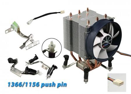 La technologie de la chaleur par contact direct augmente le flux d'air et le dissipateur de chaleur.