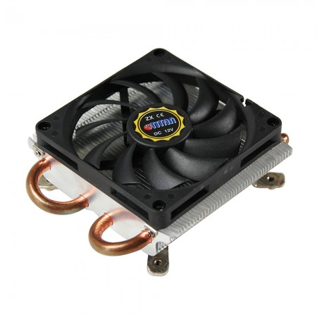 Equipped with high-density cooling fins, copper base, and 80mm silent cooling fan, this CPU cooler can strengthen thermal sink of CPU.