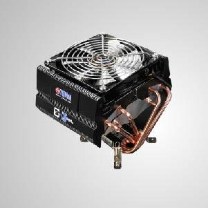 Enfriador de aire de CPU universal con 6 tubos de calor de CC y ventilador de enfriamiento de 120 mm / TDP 160W - Enfriador de enfriamiento de CPU universal con 6 tubos de calor de contacto directo y ventilador PWM de 120 mm. Proporciona un gran rendimiento de refrigeración de la CPU