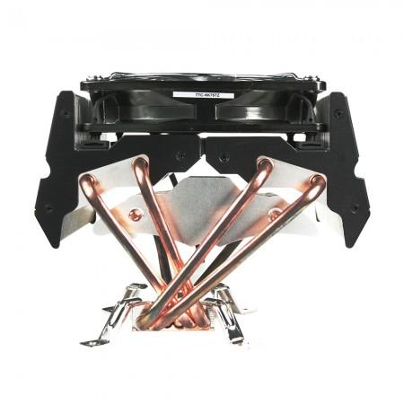 С чистым Медная основа а также алюминиевых ребер6 оптимизировано direct heat pipesи 120 мм ШИМ бесшумный вентилятор, это может ускорить рассеивание тепла