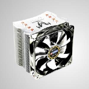 Enfriador de aire de CPU universal con 4 tubos de calor de CC y ventilador PWM silencioso de 120 mm / Fenrir / TDP 160W
