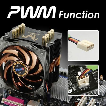 Mit einem PWM-Lüfter mit großer Reichweite wird eine hervorragende Balance zwischen anpassbarer Drehzahl und Kühlleistung erzielt