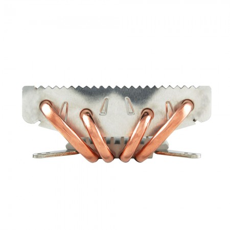 With 4 optimized u-shaped direct contact heat pipes, significantly boost airflow and heat transfer