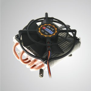 Intel LGA 1155/1156/1200- Low Profile Design CPU Air  Cooler with 4 DC Heat Pipes and 100mm Frameless Cooling Fan / TDP 130W