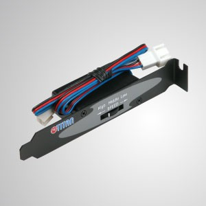 Computer Case 3-Pin Noise Reducer Fan Speed Controller - Equipped with 3-Pin connector and supports 3-pin DC fan current l lower than 0.3A. It has the characteristics of high compatibility and adjustable speed design.