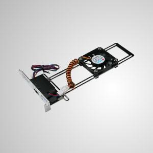 12V DC Universal Adjustable System Cooling Cooler - Universal VGA Heat Terminator (UVHT) enhances cooling performance of the origina cooler