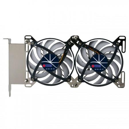 Einzigartiges Doppel-X-Halter-Design für mehrere Optionen für Lüftergrößen von 60 mm bis 90 mm.