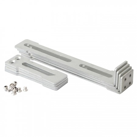 Adjustable rack clip with silding rails to fit different installation need.