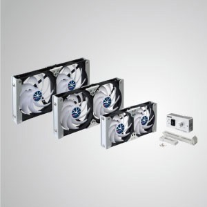 Ventilador de refrigeración de refrigeración de ventilación de montaje en rack de 12 V CC Multi-Puropse - El ventilador de enfriamiento de montaje en bastidor se puede aplicar al ventilador de ventilación del refrigerador en el RV, o ser un ventilador de gabinete de Audio / Vedio, un ventilador de gabinete TTC, un ventilador de gabinete de cine en casa, un ventilador de ventilación de amplificador