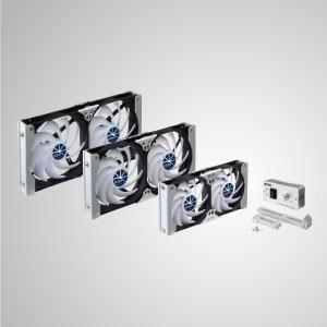 12V DC Multi-Puropse Rack Mount Ventilation Cooling Refrigerator Fan - Rack Mount cooling fan can be applied to refrigerator vent fan in RV, or be Audio/Vedio cabinet fan, TTC cabinet fan, home theater cabinet fan, amplifier ventilation fan