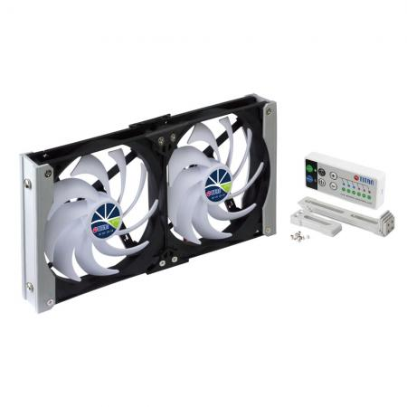 There are 90mm, 120mm, 140mm racking mounting ventilation cooling fan for refrigerator fan in motorhome, campervan, truck trailer or ventilation cabinet fan in home theater/Audio/Video cabinet.