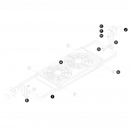 Montagezunft Fensterregal Doppellüfter