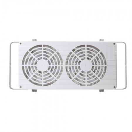 Equipped with strong airflow of 280 CFM by two 140mm fans, it can quickly push hot air out to regulate and enhance ventilation inside.