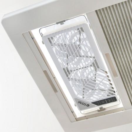 Der Lüfter für die Fenstermontage kann für Fensterfilter verwendet werden, ohne den Doppellüfter zu demontieren.