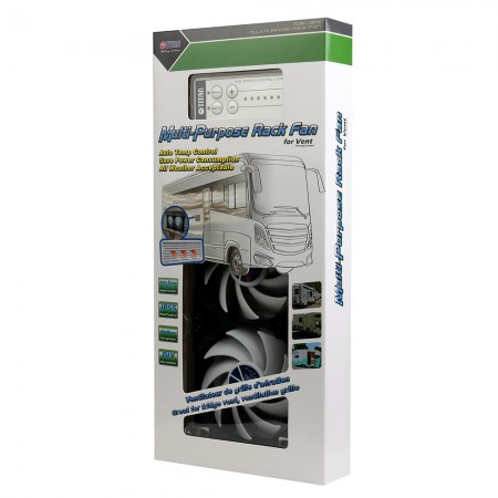 TITAN IP55 rack mounted fridge vent fan package
