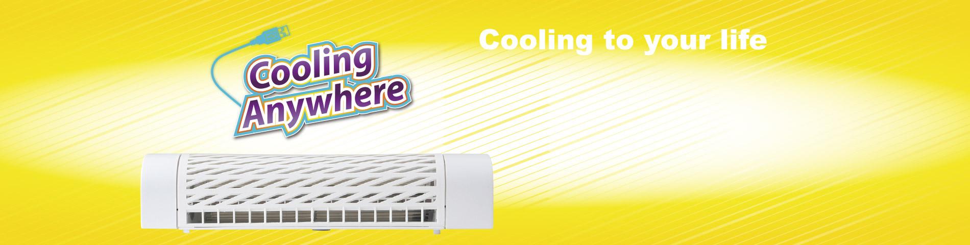 Ventilador de enfriamiento en cualquier lugar Para una mejor vida fresca