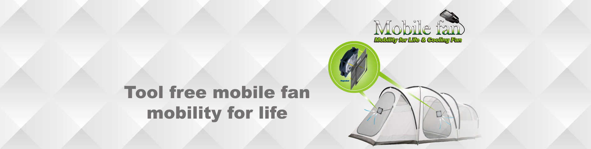Mobile Cooling Fan Free from Tool and Heat
