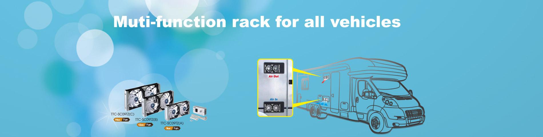 Ventilador para autocaravanas y vehículos recreativos Set de bricolaje multiusos