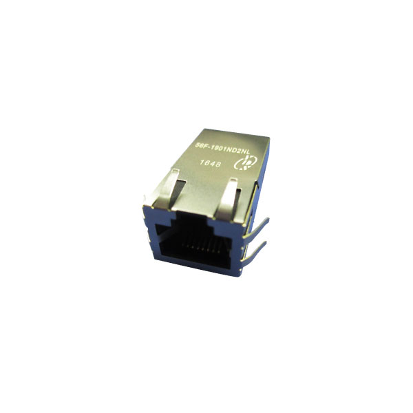 Single Port 1000 Base-T PoE Include PD Controller RJ45 Jack with Magnetics(56F-19XX Series)