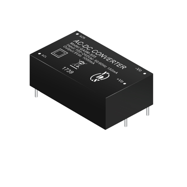 5W 4KVac Isolation Regulated Output AC-DC Converter(GA5M Series)