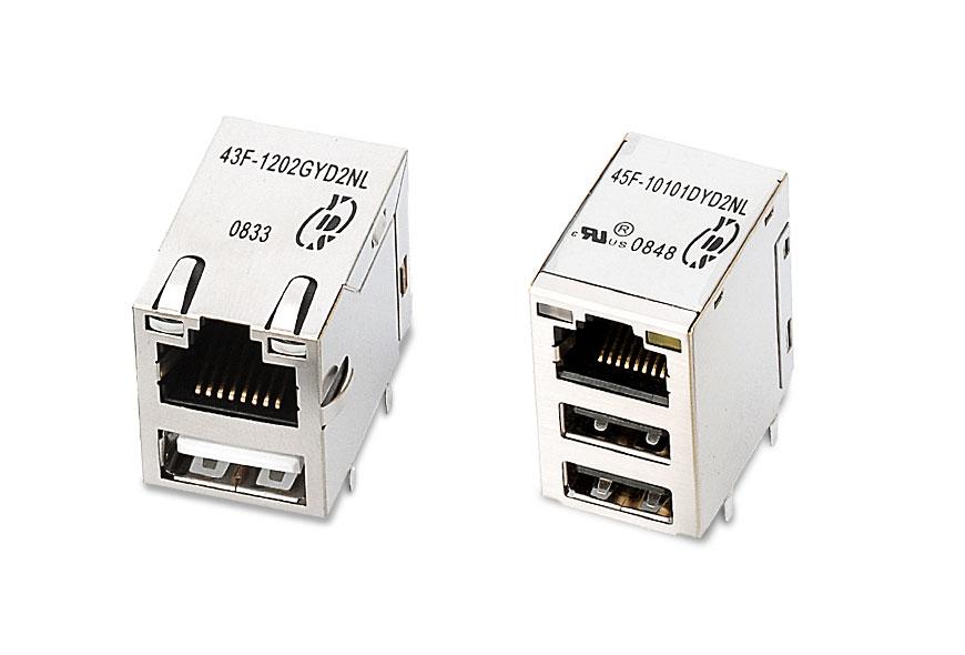USB + RJ45 Integrated Connectors