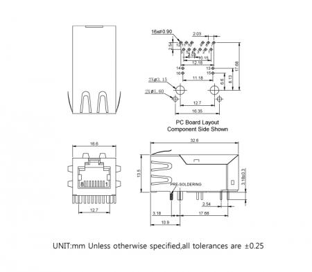 56F-19XX Series Mechanicals and Dimensions